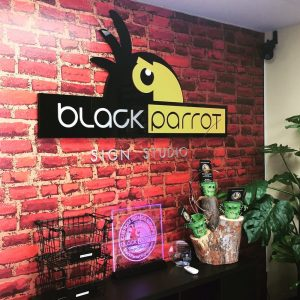 Black Parrot Sign Studio Customer Review