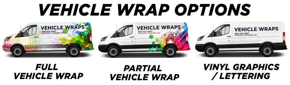 Tustin Vehicle Wraps vehicle wrap options